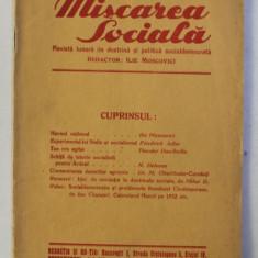 MISCAREA SOCIALA - REVISTA LUNARA DE DOCTRINA SI POLITICA SOCIALDEMOCRATA , ANUL III , NO. 4 , IANUARIE 1932