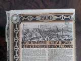 2500 Lei 1939 Uzinele de fier Resita actiuni vechi / actiune veche Romania