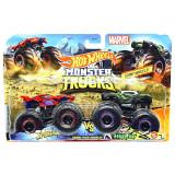 Set Hot Wheels by Mattel Monster Trucks Demolition Doubles Spiderman vs Hulk