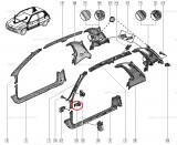 Agrafa fixare panouri stalpi Renault Clio 1, Laguna, Clips Original 7703081079 Kft Auto, Automobile Dacia Mioveni