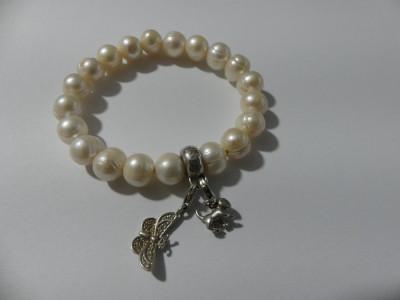 Bratara cu perle naturale Thomas Sabo si 2 charmuri -2563 foto