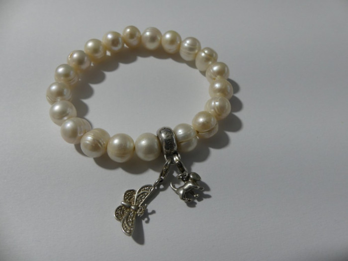 Bratara cu perle naturale Thomas Sabo si 2 charmuri -2563
