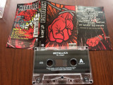 metallica st anger album caseta audio muzica heavy metal rock vertigo rec 2003