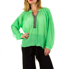 Bluza sic, de culoare verde, cu aspect usor creponat, L, M, S