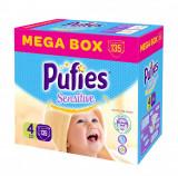 Scutece Pufies Sensitive Mega Box Maxi 4, 135 buc, 7-14 kg