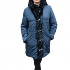 Jacheta deosebita cu doua fete, fas bleumarin si blana neagra