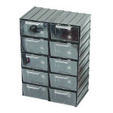 Dulap plastic Polonia, 213 x 304 x 125 mm, 10 sertare transparente