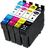 Set 4 cartuse compatibile EPSON T502XL, Black, Cyan, Magenta, Yellow