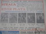 Sportul Supliment Fotbal (12 dec 1986), Steaua-River Plata, avancronica