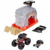 Cumpara ieftin Pista de Masini Hot Wheels by Mattel Monster Truck Bone Shaker cu 2 Masinute