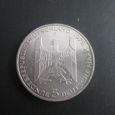 Germania _ 5 mark _ 1978 _ moneda din argint
