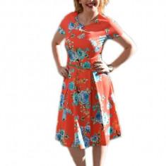 Rochie casual, colorata de lungime deasupra genunchiului