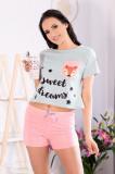 LIV208-54 Pijama de vara din bumbac cu imprimeu funny