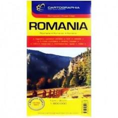 Harta turistica si rutiera Romania 1:8000000