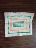 Etamina lucrata manual verde - galben