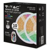 Banda LED RGB, 2 role x 5 m, 4.8 W, 500 lm, 30 LED-uri, General