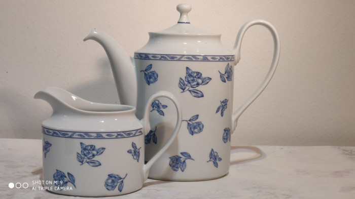 Set pt cafea, portelan fin Rosenthal Blue Elegance