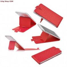 Husa Flip Universal Stick - 5,3inch (13.2*6.7*10cm) Rosu