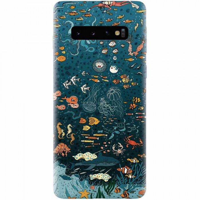 Husa silicon personalizata pentru Samsung Galaxy S10, Under The Sea