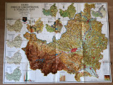 plansa harta judetul Cluj 1980 + 10 alte imagini cu harta judetul Cluj