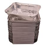 Cumpara ieftin Caserole Aluminiu,100 Buc/Set, 222x173x45 mm, 1150 ml, Dreptunghiulare, Caserola Aluminiu de Unica Folosinta, Caserola pentru Catering, Caserole pentr