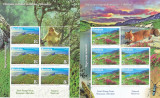 EMISIUNE COMUNA ROMANIA - GIBRALTAR,ANIMALE, MINISHEET 2019,MNH.