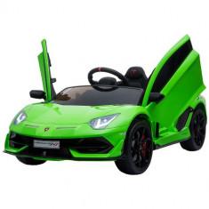 Masinuta Electrica Lamborghini Aventador SVJ Green