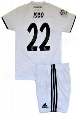 Compleu Echipament fotbal pentru copii REAL MADRID ISCO NR.22 foto