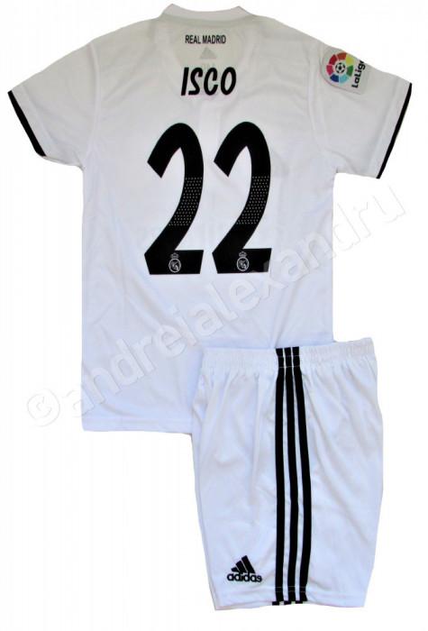 Compleu Echipament fotbal pentru copii REAL MADRID ISCO NR.22
