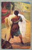 AD 276 C. P. VECHE -QUO VADIS ?- URSUS SAVES LYGIA OF A CRUEL DEATH -PATATA, Franta, Circulata, Printata