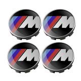 Set 4 capacele roti, M power 68mm, pentru jante aliaj BMW