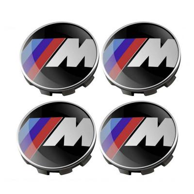 Set 4 capacele roti, M power 68mm, pentru jante aliaj BMW foto