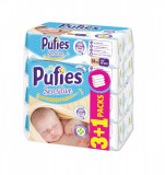 Servetele umede Pufies Sensitive, 64 x 4 buc