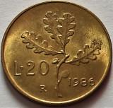 Moneda 20 LIRE - ITALIA, anul 1986 *cod 1120 A = UNC, Europa