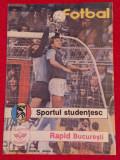 Program meci fotbal SPORTUL STUDENTESC - RAPID BUCURESTI (august 1988)