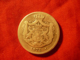 Moneda 2 Lei 1875 Carol I argint cal. medie-buna