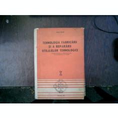 Tehnologia fabricarii si a repararii utilajelor tehnologice vol.1 - Vasile Bejan