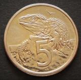 Moneda EXOTICA 5 CENTI - NOUA ZEELANDA, anul 1982   *cod 4912