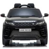 Masinuta electrica cu telecomanda Range Rover Evoque negru 4x4 scaun piele si roti spuma cauciuc, Land Rover