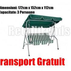 Balansoar Leagan Banca Metal Curte Gradina Terasa 3 Persoane Transport GRATUIT
