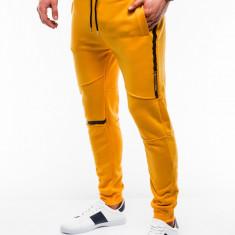 Pantaloni barbati de trening galben slim fit sport street model nou P743