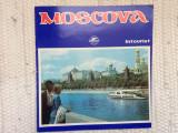 Pliant moscova intourist agentie turism URSS ghid in limba romana ilustrat hobby