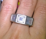 SUPERB! inel argint 925 antic cu topaze naturale!!