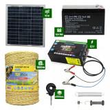 Pachet gard electric cu Panou solar 3,1J putere cu 1000m Fir 160Kg