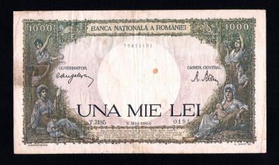 ROMANIA ->  1000 LEI 1943 + MAI 1944 + OCTOMBRIE 1944 foto