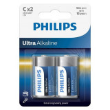 BATERIE ULTRA ALKALINE LR14 C BLISTER 2 BUC P, Philips