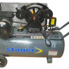 Compresor de aer Stager HM-V-0.25/100, 3 CP, 100 L, 8 BAR