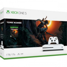 Consola MICROSOFT Xbox One S 1TB, alb + joc Shadow of the Tomb Raider