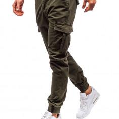 Pantaloni joggers cargo bărbat verzi Bolf 5399