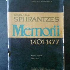 GEORGIOS SPHRANTZES - MEMORII 1401-1477